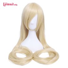 L-email wig 60inch 150cm Long Women Cosplay Wigs 10 Color Straight Beige Blond Synthetic Hair Perucas Cosplay Wig
