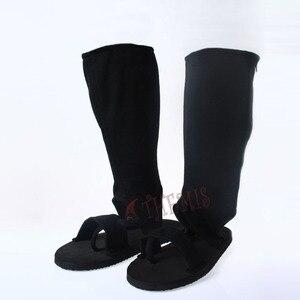 Image 4 - MMGG Anime Naruto cosplay Ninja Uchiha Sasuke Cosplay ayakkabı Cosplay çizmeler fermuarlı arka