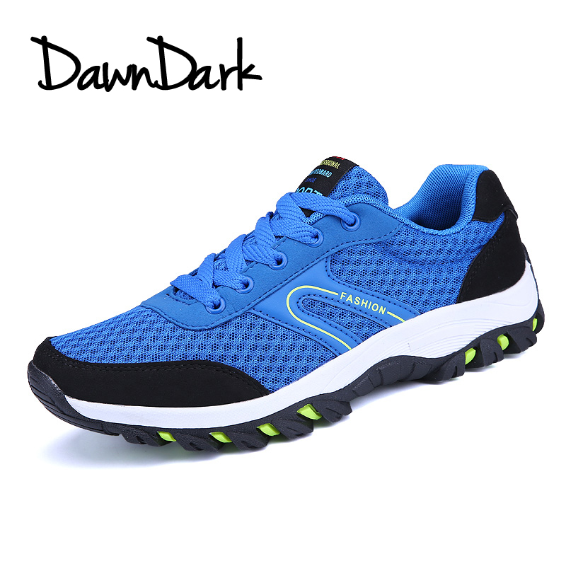 Men Hiking Shoes Breathable Outdoor Man Camping Mountain Climbing Shoes Lace Up Mesh Mal ...