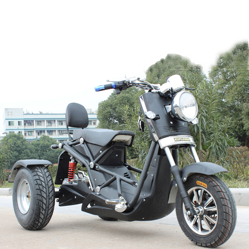 Motorcycles <font><b>Electric</b></font> <font><b>Scooter</b></font> 3 Wheel Tricycle Citycoco Popular Cool 72V 1000W High-powered for Adults Cycling The Handicapped image