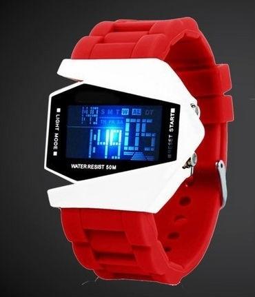 Cool Men Airplane Pilot Sport Digital Watch LED Flashlight Alarm 10 Colors    TT@88