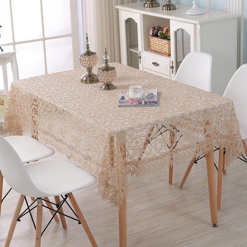 מפת שולחן קפה בד שולחן תחרה בסגנון אירופה הולו מתוך טלוויזיה ספת הגנת מקרר מצעים כיסוי קישוט שולחן אלגנטי