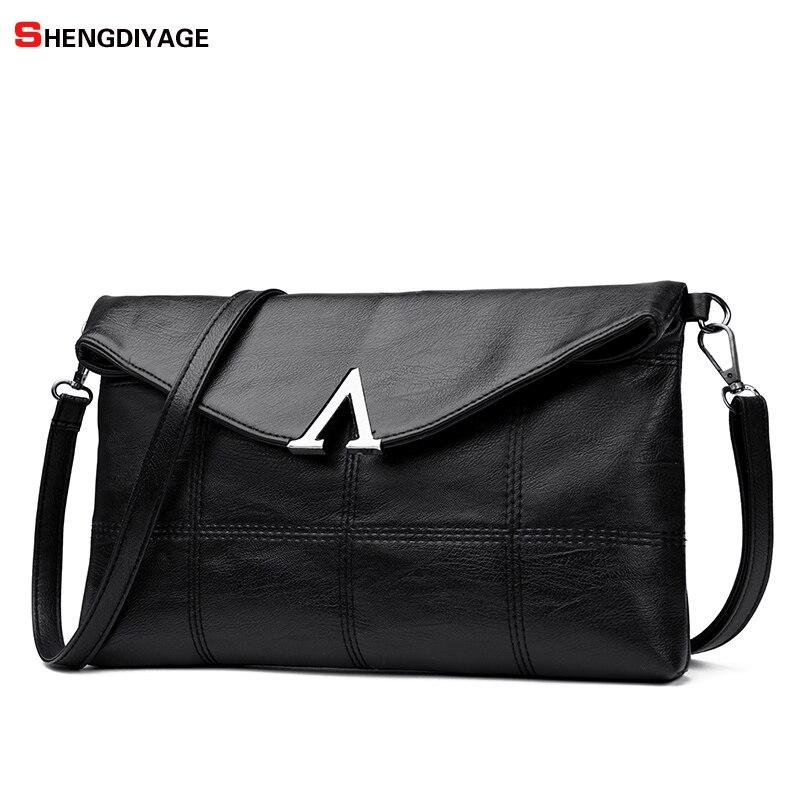 Bolsos Mujer SCA 2018 Leather Women Bags Handbags Famous Brands Shoulder Bag Fashion Letter Crossbody Bag Women Messenger Bags