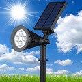 Светодиодная Солнечная энергия наружный сад точечный свет Grondspots Солнечная Светодиодная лампа газон свет RGB настенный Двор Прожектор ландш...