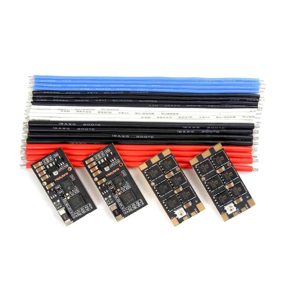 4 pièces Holybro Tekko32 F3 35A ESC BLHeli_32 3-6 S F3 MCU Dshot1200 Intégré Capteur De Courant WS2812B LED