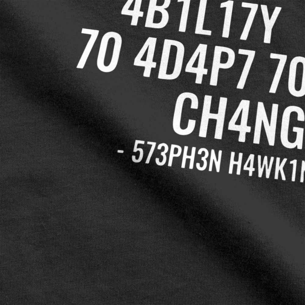 Мужские футболки, интеллект, Забавный интеллект, есть возможность адаптироваться к смене, футболка, круглый вырез, топы, чистый хлопок, футболки