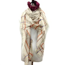 women tassel plaid scarf winter silk blanket brand infinity luxury brand designer tartan magic scarves