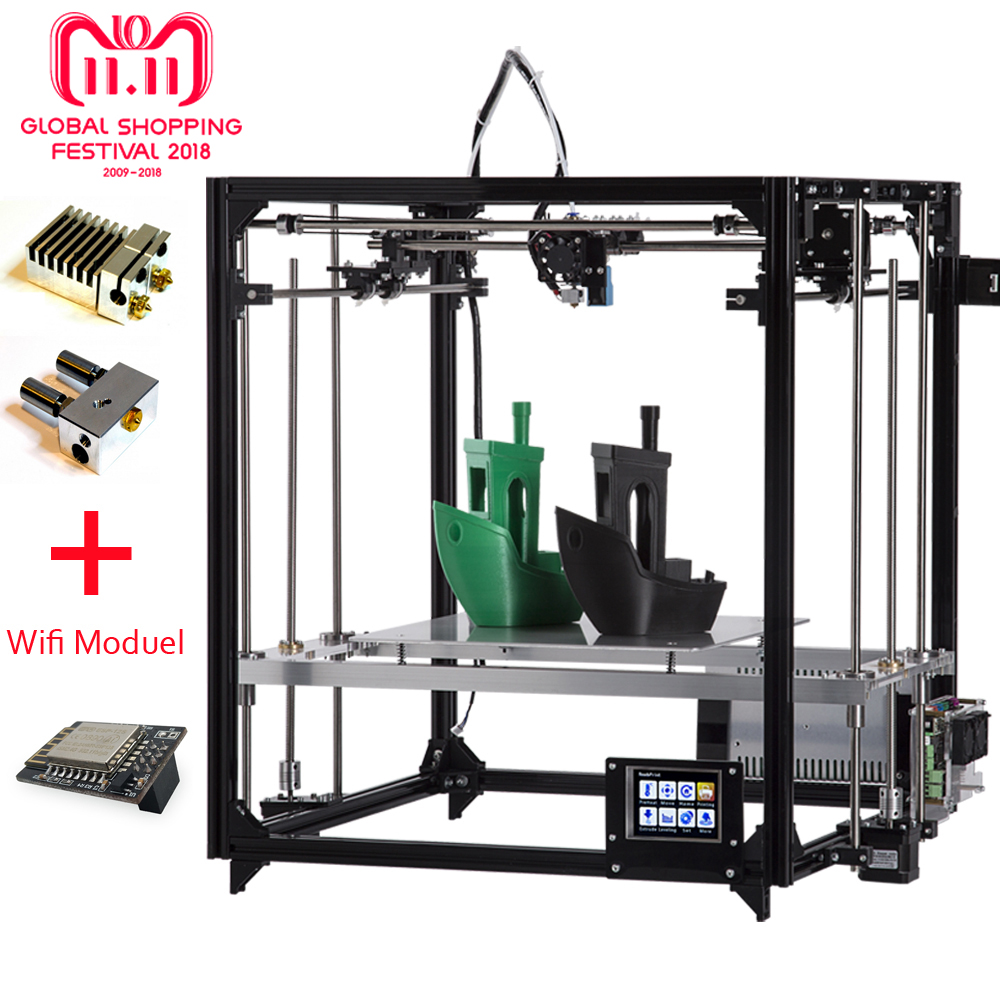 NEW Flsun 3D Printer Kit Large Printing Area 260*260*350mm Touch Screen Double Extruder Metal Frame 3d printer with Heated Bed flsun delta kossel 3d printer pre assembled touch screen wifi module support large printing area 260 260 370mm