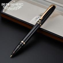 Caneta 1079 ultrafina 0.38mm estudantes escritório caneta de presente do negócio do herói autêntico preto rosa amarelo azul frete grátis