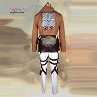 Attack on Titan 3 Levi.Ackerman Cosplay Costumes Stage Performence Clothes , Perfect Custom for You !