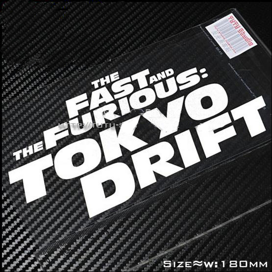 Brand new the fast and the furious tokyodrift stickers reflective windshield decals stickers for motorcycle atv car in decals stickers from automobiles