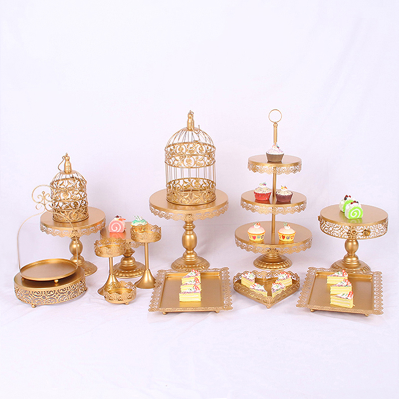 wedding cake cupcake pan aliexpress buy gold wedding dessert tray cake stand 8603