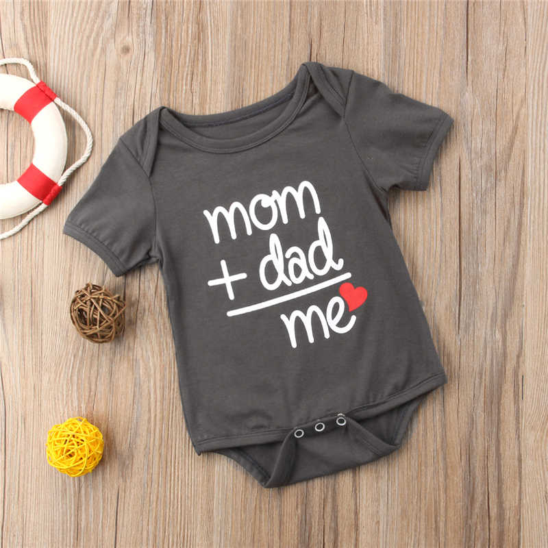 dd34b9d42 ... pudcoco Newborn Baby Boy Girl Bodysuit Outfit Costume mom dad me letter  Cotton bodysuits boys Clothes