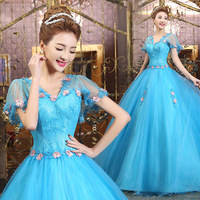 Ball Gown Lace Quinceanera Dresses 15 Sweet 16 Puffy Blue Quinceanera Gown Prom Dresses for 15 Years Quinceanera habitu