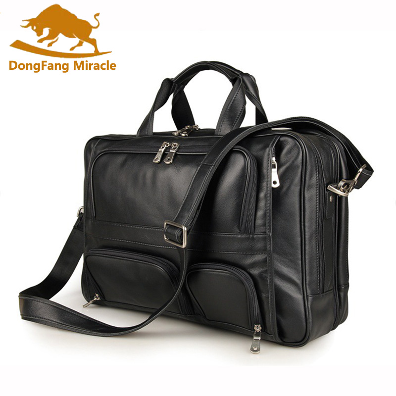 Genuine Leather Men bag Briefcase Leather Briefcase 17
