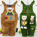 New Spring & autumn baby clothing baby kids corduroy denim suspenders overalls boys girls cartoon trousers baby pants