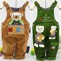 Nova Primavera & outono bebê bebê roupas crianças veludo cotelê suspensórios denim macacão calças calças do bebê das meninas dos meninos dos desenhos animados