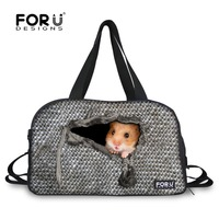 FORUDESIGNS Canvas Sport Bag Training Gym Bag Men Woman Fitness Bags Large Capacity 3D Hamster Printing Atheletic Bag Outdoor