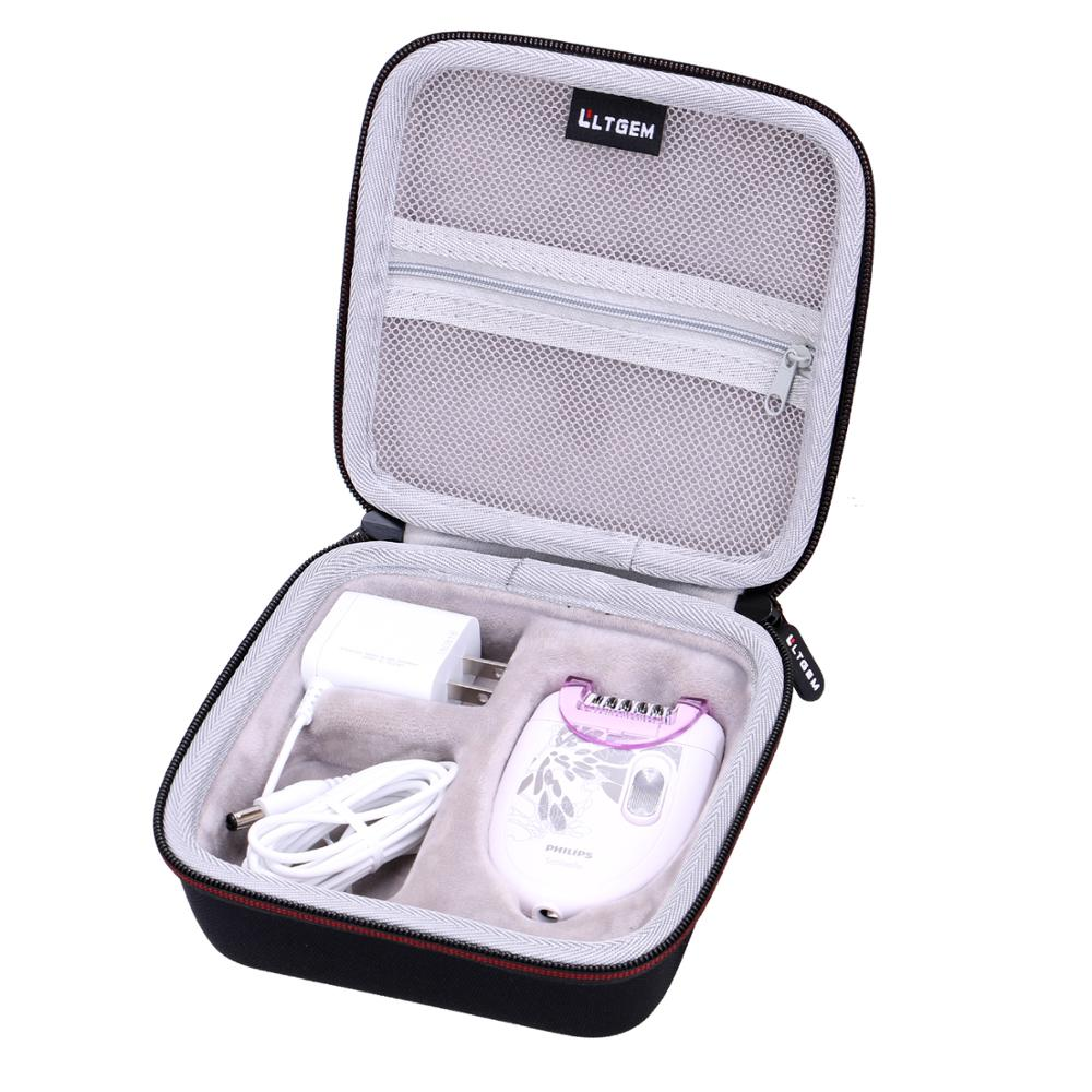 LTGEM EVA Black Carrying Hard Case For Philips HP6401 Satinelle Essential Compact Hair Removal Epilator