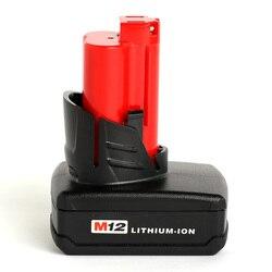 Dla Milwaukee Mil 12V 4000mAh akumulator na narzędzia 48-11-2401 48-11-2402  C12 B  C12 BX  M12