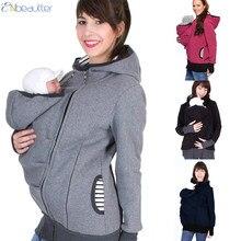 1e2004b62eb ENbeautter Parenting Kind Winter Schwangere frauen Sweatshirts Baby Träger  Tragen Hoodies Mutterschaft Mutter Känguru Kleidung(