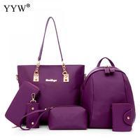 Wholesale Shoulder Bags Set Buy 1 Get 6 Women's PU Leather Clutches Handbags Famous Brands Lady's Purse Mini Back pack for Women