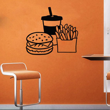 Fast food Wall Declas Hot Dog Store Logo Window Decals Bakery And Baked Goods Home Kitchen Decal Decor  X77
