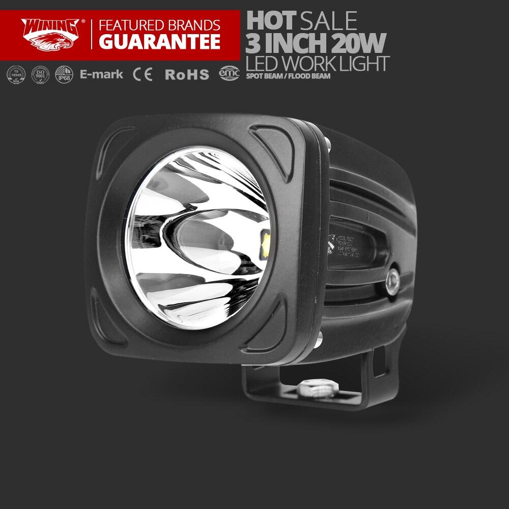 Светодиодный ATV 3 дюймов 20 Вт светодиодный вождения свет работы для самосвалов Off road Гонки огни мини удара светодиодный Spotlight прожектор Янтар...