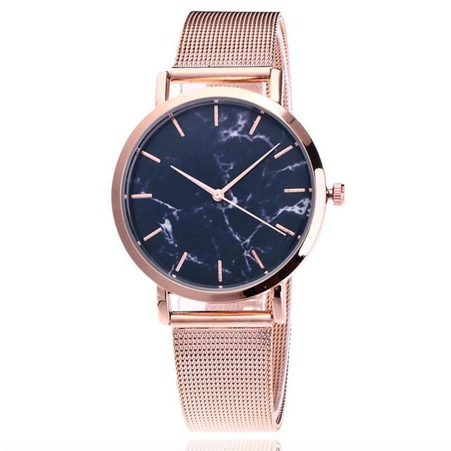 2018 Selling fashion Crystal dial quartz analog  watches Beautiful Simple Watch Steel Strip Watch Women Men Mechanical Gear