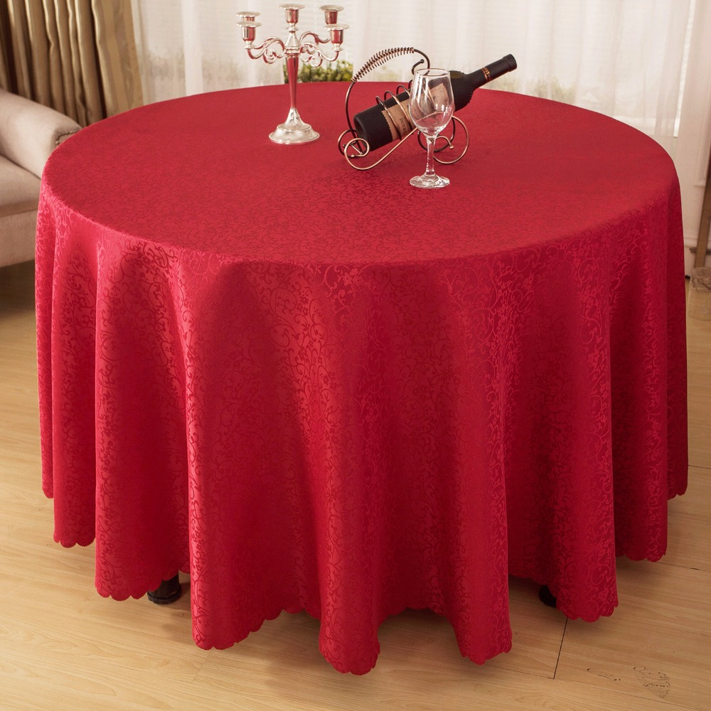 Tablecloth Dining Table Cover Jacquard Table Cloth Round