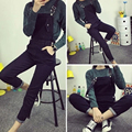 Spring Autumn Casual Ladies Black Bodysuit Jumpsuit Jeans Ripped JumpsuitS Slim Pants Pockets Women Long Denim Overalls JS-5579
