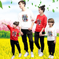 Spring Sportswear Family Matching Outfits Long Sleeve Shirt Pants 2Pcs Set Father Mother & Kids Clothes Set For Family Set