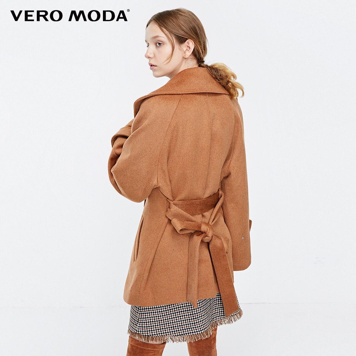 Vero Moda nowy lapel przycisk regulowany mankiet oversize wełniany płaszcz kobiet  318327522 w Wełna i mieszanki od Odzież damska na  Grupa 3