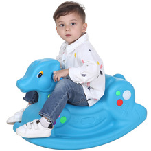 цены на Kindergarten Thicken Baby Indoor Outdoor Plastic Ride on Horse Toys Trojan Baby Rocking Horse Toys Ride on Cars for Children  в интернет-магазинах
