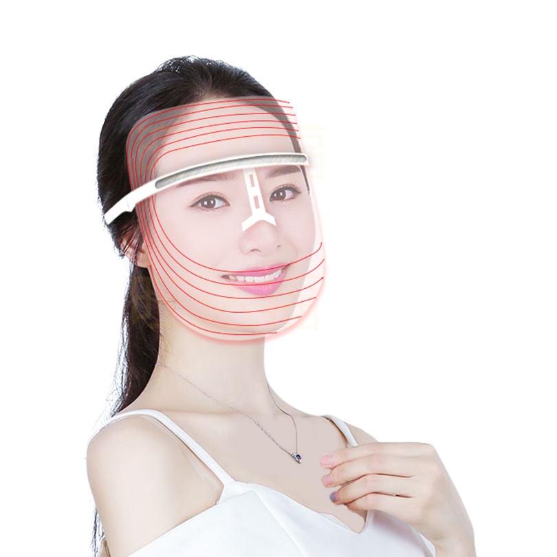 PRETTY SEE LED Facial Mask Skin Rejuvenation Therapy Device Photon Light Mask Facial Skin Care Mask 7 color led mask photon light skin rejuvenation therapy facial mask photon photodynamics beauty facial peels machine skin care