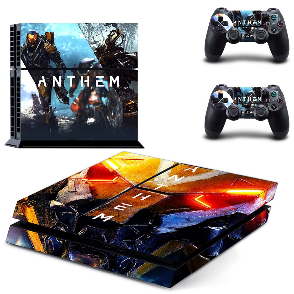 Game Anthem PS4 Skin Sticker Decal for Sony PlayStation 4 Console and 2 controller skins PS4 Stickers Vinyl Accessory