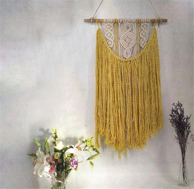 Bohemian Macrame Tapestry Wall Hanging Cotton Cord Handmade Art ...