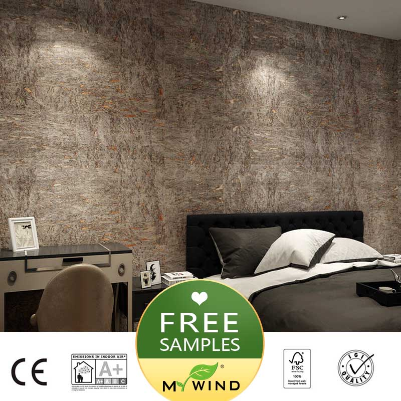 2019 New Designs Wallpaper Grey Natural Wood Heat Resistant 3D Wallpapers For Walls Home Office Decoration Roll