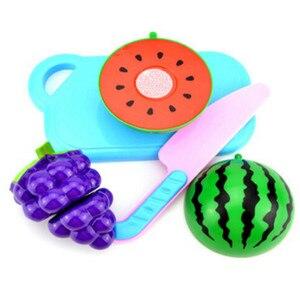 Image 4 - Nowy 1 zestaw bezpieczne dzieci bawią się zabawka domowa plastikowe zabawki w kształcie jedzenia wyciąć owoce warzywa kuchnia dziecko dzieci udawaj zagraj w zabawki edukacyjne