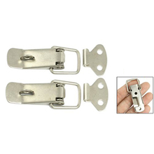11.11  New 4 Pcs Silver Hardware Cabinet Boxes Spring Loaded Latch Catch Toggle Hasp
