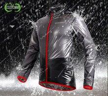 WOSAWE Transparent Breathable Bicycle Rain Jacket Cycling Bike Raincoat Men&Women Jersey Waterproof
