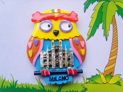 Milan owl fridge stickers
