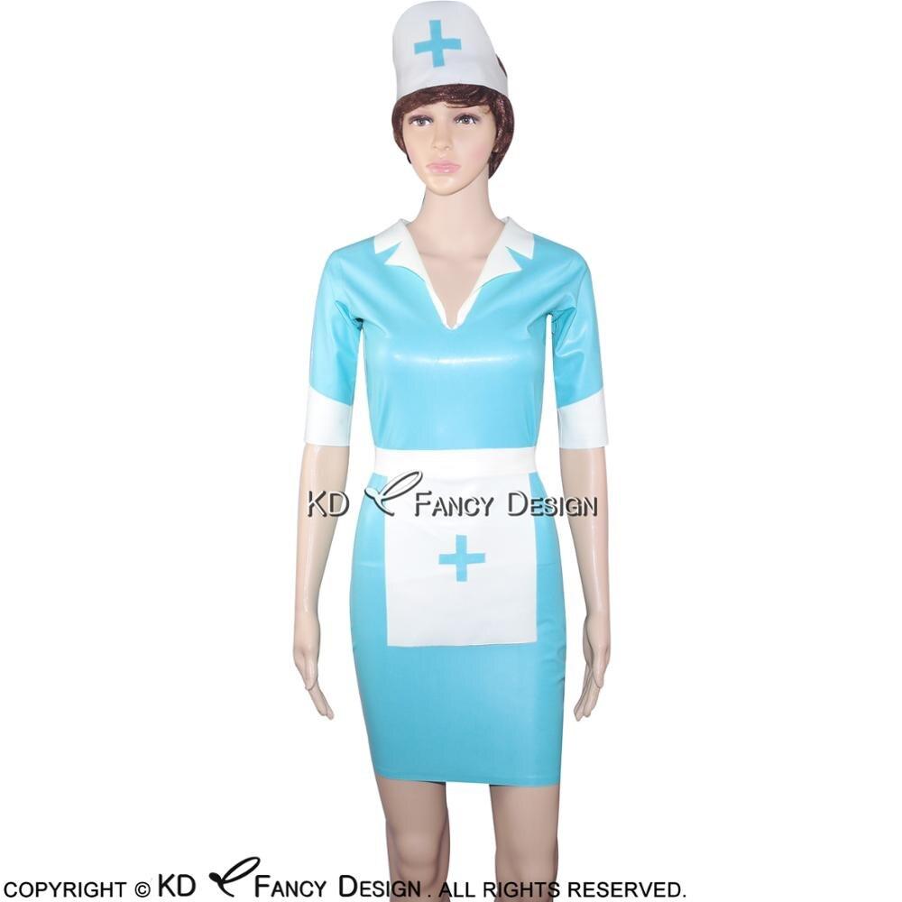 Aliexpress.com : Buy Lake Blue Sexy Latex Nurse Uniform