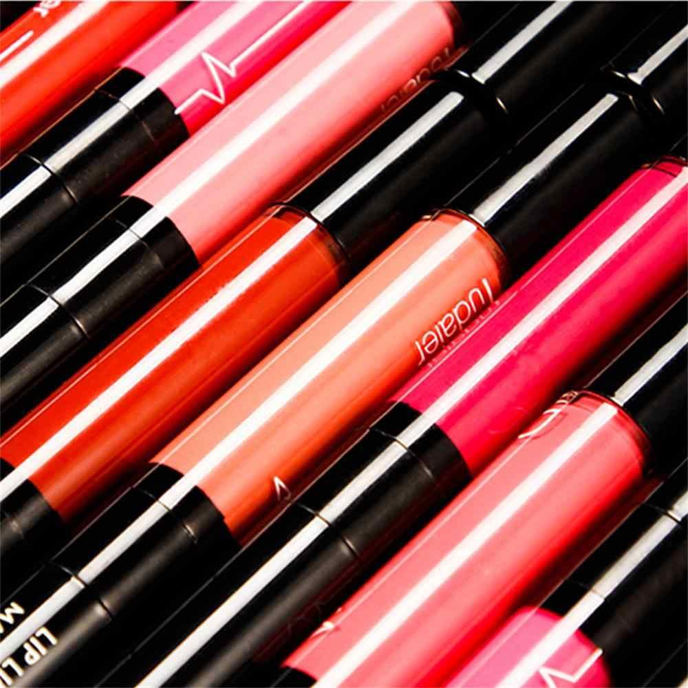 16 צבעים מותג מט נוזלי שפתיים מקל עיפרון איפור עמיד למים בעירום כהה אדום מט קטיפה Pudaier שפתון ליפ גלוס סט
