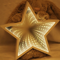 3D LED Night Light Novelty Cloud Star Tree Tunnel Lamps Infinity Mirror Night Lamp For Kids Toy Gift Home Decoration Nightlight