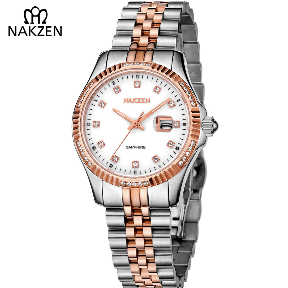 NAKZEN Women Watches Luxury Brand Rhinestone WristWatch Bracelets Waterproof Strap Business Female Fashion Watch Time Clock luxury brand love bracelets