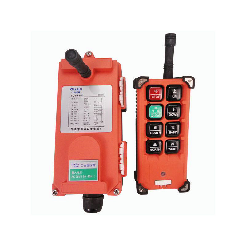 Radio Hoist Crane Industrial Wireless Controller Remote Control 1 Transmitter + 1 Receiver COB-63YK nice uting ce fcc industrial wireless radio double speed f21 4d remote control 1 transmitter 1 receiver for crane