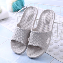 Slippers female summer home interior simple solid color casual non-slip couple slippers bathroom
