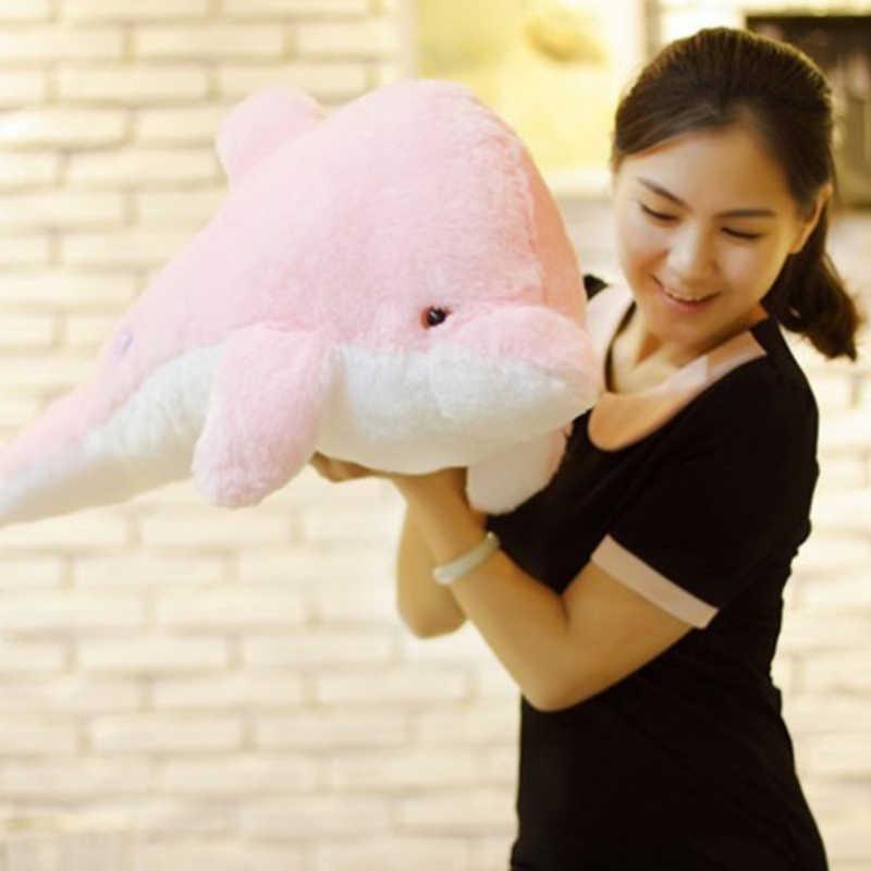 45 см Красочные Дельфин Плюшевые игрушки куклы светящиеся плюшевые мигает подушка со светодио дный подсветкой подарок на день рождения для детей