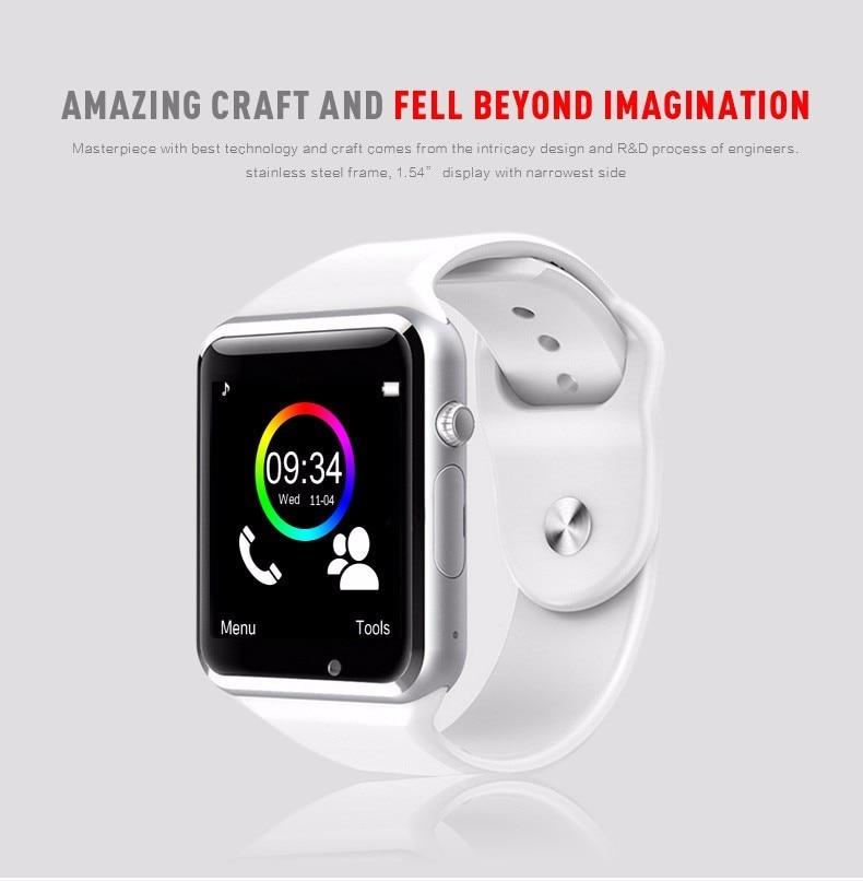 A1 Smartwatch Intelligente Digitale Sport Gold Smart Uhr New Pedometer Für Telefon Android Armbanduhr Männer frauen satti Uhr